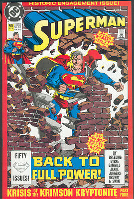 US Superman No. 50 - Historic engagement - Versand erfolgt bagged and boarded
