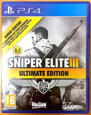 Sniper Elite III - Afrika - Ultimate Edition - PS4 Games - Very Good Condition