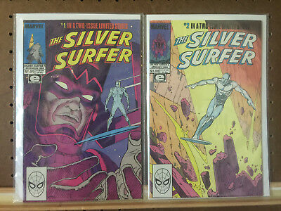 Silver Surfer 1 2 Complete Series Marvel Comics 1988-1989 Mobeius Stan Lee