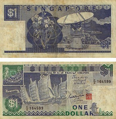 $1 one Dollar Singapore banknote Fine Paper Money Collection ! Free Shipping !