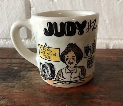 USA China Tepco Mug The Mug Shop Santa Ana California Custom Judy Hand Paint