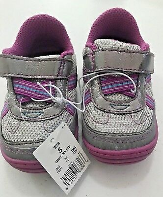 """Surprize By Stride Rite Toddler Girls Size 5 """"Aida"""" Grey/Purple NEW Tennis Shoes"""