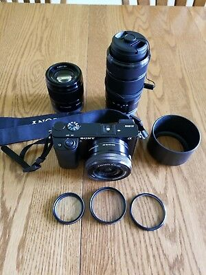 Sony Alpha a6000 24.3MP Digital SLR Camera - with three lenses - mint condition