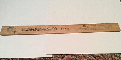 Vintage Buster Brown Shoes wooden Ruler advertising Buster and Tige Green Mt IA