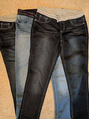 Nwot(Lot Of 3) So Girls Denim Jeans Pull On Size 16 Free Shipping