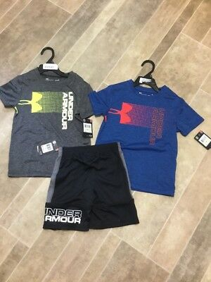 Under Armour Toddler Boys 4T Lot Of Shorts And T Shirts New $62 UA
