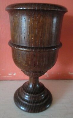 Attractive 19th Century turned Oak Goblet in pristine condition