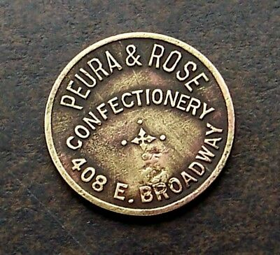 BUTTE MONTANA / PUERA & ROSE / 5c / RARE / ANTIQUE TRADE TOKEN