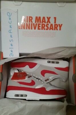 Nike Air Max 1 30th Anniversary, OG Red, Deadstock, EU44 / US10