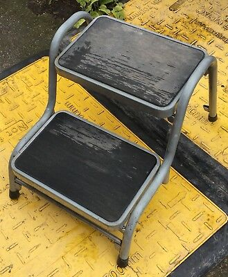 Double Step Caravan Stool Steel Rubber Non Slip Lightweight Motorhome Camper