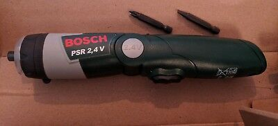 Bosch PSR 2,4V Rechargeable Electric Screwdriver, boxed with instructions