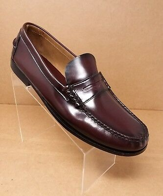 1d932b19032 Florsheim Men s Berkley Moc Toe Penny Loafer Burgundy Shoes 17058-05 Sz ...