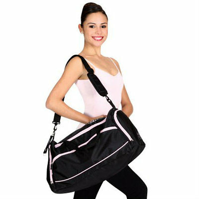 Bloch's Large Duffle Pink&Black Dance Bag Breathable Shoe Comp FREE SHIP NO TAX