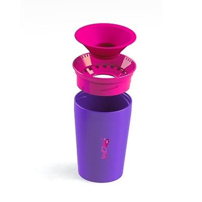 Wow Cup Non Spill Child/Toddler Drinking Cup 360° Sippy Cup Beaker Purple wowcup
