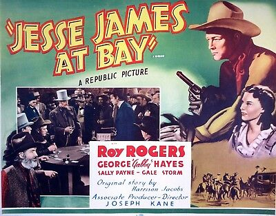 JESSE JAMES AT BAY (R55) 22x28 - Outlaw Battles Land-Grabbing Railroad Tycoons!