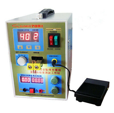 788H with LED Dual Pulse Spot Welder Battery Charger 36v 0.1~0.25mm 800A