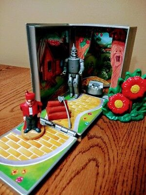 The Wizard of Oz Tinman If I Only Had a Heart Storybook Playset 1990 Multi Toys