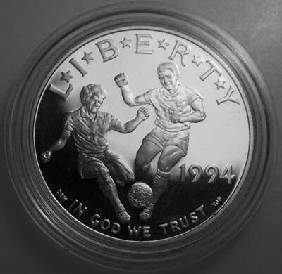 * 1994-S Commemorative 90% Silver Proof Dollar World Cup COIN ONLY