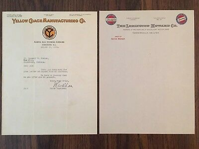 Lot Of Very Early Car Automobile Letterhead Advertising Motor Car Truck Indiana