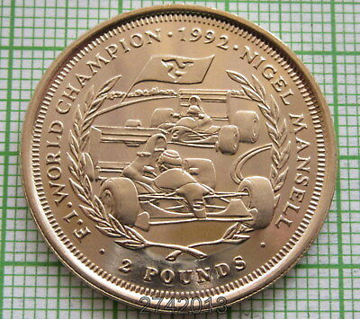 ISLE OF MAN 1993 2 POUNDS, F1 World Champion - Nigel Mansell, VIRENIUM, UNC