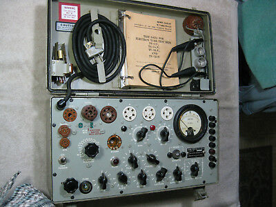 TV-7 D/U vintage Tube Tester, Ecco corp, w/leads and book...