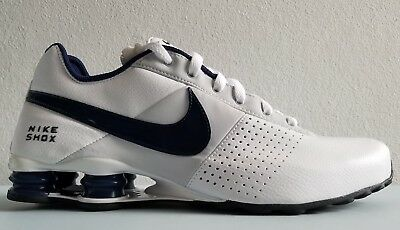 on sale 1ba38 b28a1 Nike Shox Deliver Mens Running White Midnight Navy Nike 317547 129 Size  10.5 New