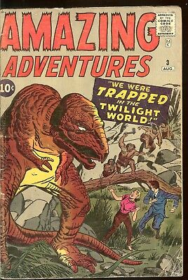 Amazing Adventures # 3 1961 Kirby Ayers Low Grade Readers Copy Complete