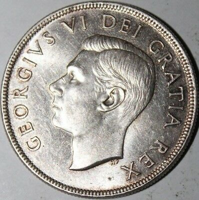 1952 Canadian Silver Dollar Auction w/a Starting Bid at $0.99 and Free Shipping