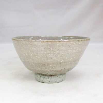 B907: Korean IDO-CHAWAN tea bowl of Joseon Dynasty pottery style