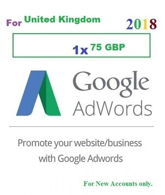 £75 Gift Card Google Adwords