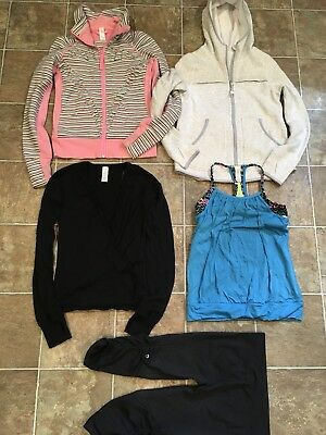 LOT of 5 Girls Size 12 Ivivva by Lululemon Hoodie, Tank, Jacket & Tights