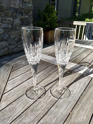 Waterford Lismore Nouveau Champagne Flutes Pair (2) Crystal