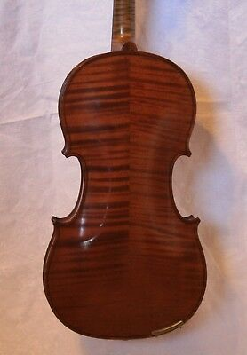 Antique VIOLIN signed Francois Barzoni 1897 (Beare & Sons) 7/8 size & 2 Bows