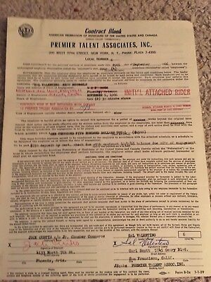 Beau Brummels Signed Contract 1966