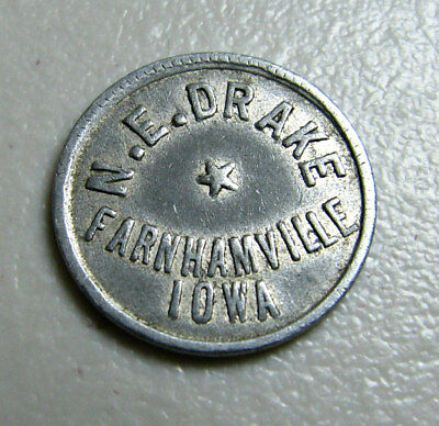 N E Drake Farnhamville, Iowa – GF 5¢ in Trade
