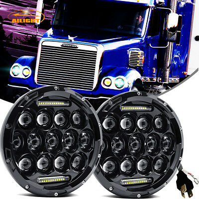 LED Headlamp Headlights Hi/Lo Beam Projector Upgrade for Freightliner CORONADO