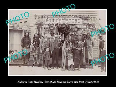 OLD LARGE HISTORIC PHOTO OF RUIDOSO NEW MEXICO, THE STORE & POST OFFICE c1880