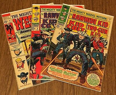 The Mighty Marvel Western #1 #2 #3 Silver Age Marvel Comic Books Lot of 3 (1968)