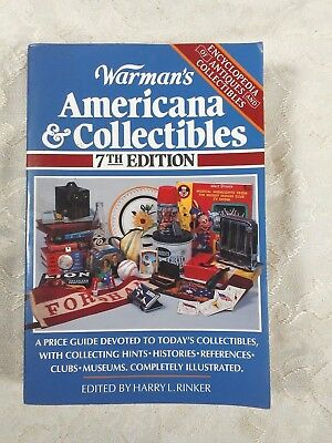 WARMAN'S Americana & Collectibles 7th Ed.1995 Paperback Illustrated Guide #AU316