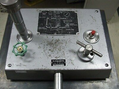 Budenberg 280D dead weight Tester / pressure calibrator with weight set *Tested*
