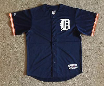 NEW Majestic Athletic MLB Detroit Tigers Bobby Higginson Jersey Size Large