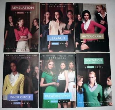Lot of (6) KATE BRIAN Books PRIVATE Series PB's:  Revelation, Legacy, 4 MORE ...