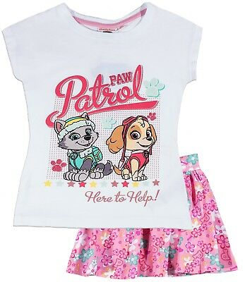 Bnwt Paw Patrol White Top And Skirt 5 Years  Bargain For You Holidays