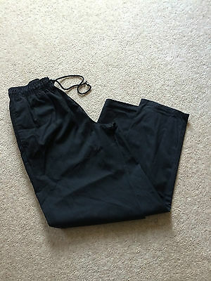 Very Good Condition Ex-Rental Black Chefs Trouser, Select Size, Xs To Xl