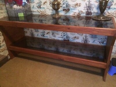 Timber Sideboard with glass top and shelf