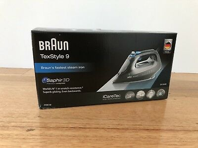 BRAND NEW IN BOX BRAUN SI9148BK TEXSTYLE 9 STEAM IRON Never Opened