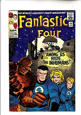 Fantastic Four 45 and 46 1st app of Black Bolt and The Inhumans