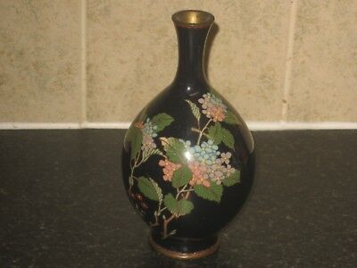 QUALITY ANTIQUE 19th CENTURY QING  CHINESE FLORAL  CLOISONNE VASE