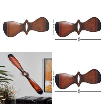 """48"""" Vintage Reflections Wood Antique-Style Airplane Propeller Wall Home Decor"""