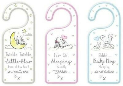 Door Hanger Plaque Sign Cute Baby Shower Gift MDF 21 x 18 cm Hugs & Kisses